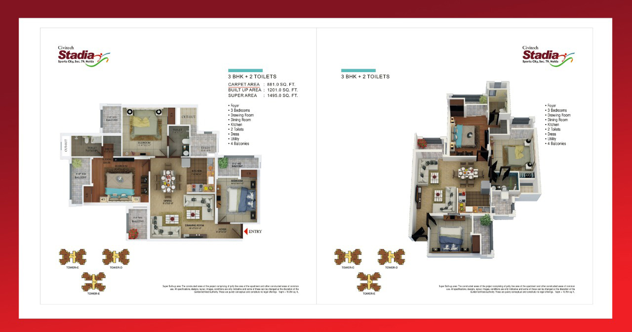 Civitech Stadia Floor Plan